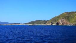 クイーンざまみから望む阿嘉島南部の海岸 Footage