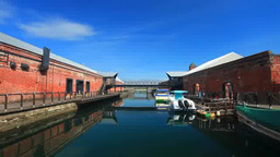 函館港の旧桟橋(東浜桟橋) stock footage