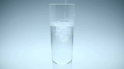 Water being poured into a cup Footage