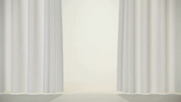 White curtains Footage