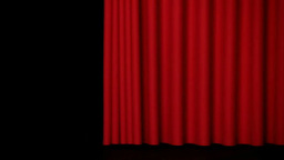 Red curtain Footage