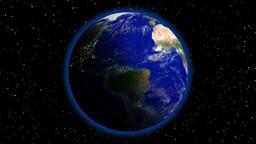 回転する地球 Footage