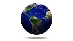 白バックに回転する地球 Footage