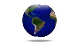 白バックに回転する地球の無限ループ Footage