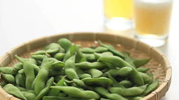 Edamame And Beer stock footage