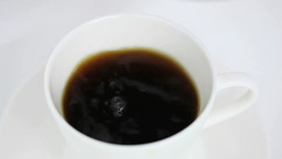 Coffee being poured into a cup Footage