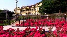 元町公園と旧函館区公会堂とツツジ Footage