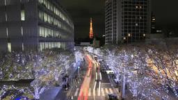 六本木けやき坂クリスマスイルミネーション Footage