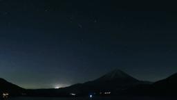 本栖湖と富士山と星座 Footage