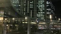 汐留シオサイトとゆりかもめの夜景 Footage