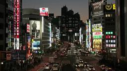 JR新宿駅前甲州街道の夜景 Footage