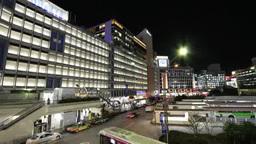 JR新宿駅西口周辺の夜景 Footage