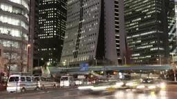 新宿高層ビルの夜景 Footage