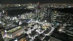 JR新宿駅周辺の夜景 Footage