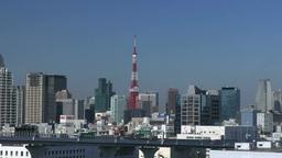 東京タワー周辺の街並み Footage