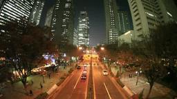 新宿高層ビル街の夜景 Footage