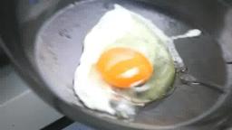 フライパンで目玉焼きを作る Footage