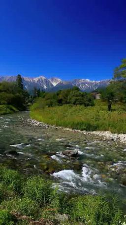 姫川と白馬三山 影片素材