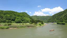 最上川の川下り Footage