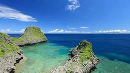 真栄田岬の海と青空と雲 Footage