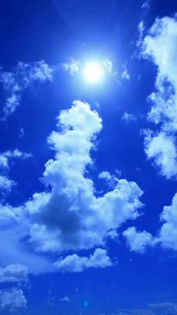 積乱雲と青空と太陽 ภาพวิดีโอ