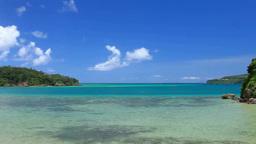 古宇利島と海 Footage