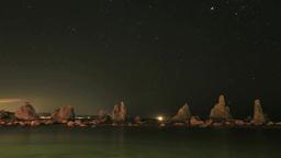 橋杭岩の星 Footage