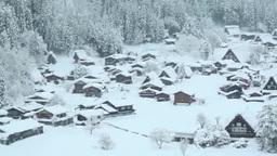 雪の白川郷 Footage