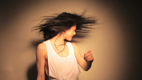 Woman shaking her hair Stock Video Footage