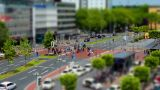 10699 city people walk tilt shift time lapse Footage