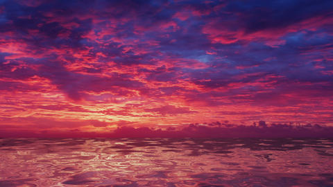 Sunrise over the Ocean Stock Video Footage