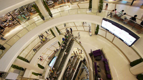Shopping Mall Escalators Stock Video Footage