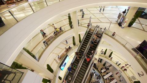 Shopping Mall Escalators Stock Video Footage