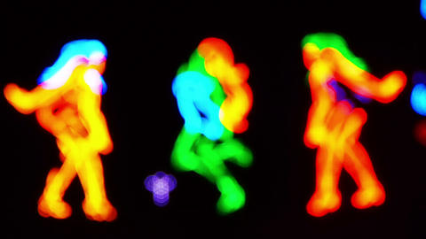 Dancing girls neon sign Stock Video Footage