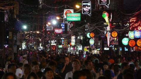 Night Walking Street, Patong, Thailand Footage