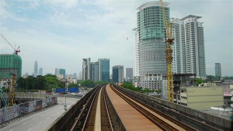Street traffic in Kuala Lumpur, Malaysia Stock Video Footage