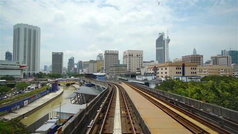 Street traffic in Kuala Lumpur, Malaysia Footage