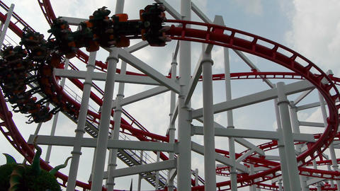 Roller coaster Stock Video Footage