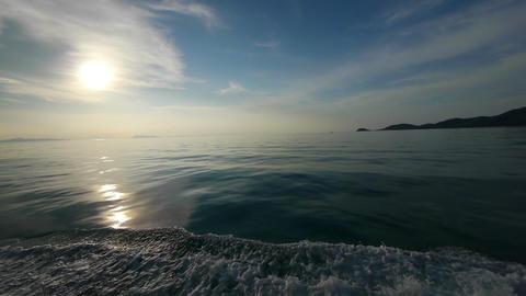 Sunset under a sea Stock Video Footage