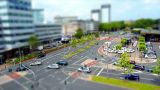 10701 city traffic 002 tilt shift time lapse Footage