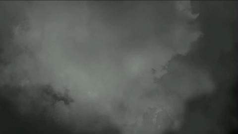 dark clouds & flying smoke Stock Video Footage