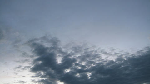 Evening Clouds Sky Timelapse Stock Video Footage