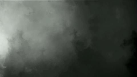 dark clouds & fog slowly flying Stock Video Footage