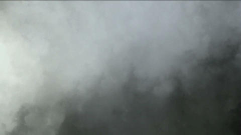 dark clouds & fog slowly flying Stock Video Footage
