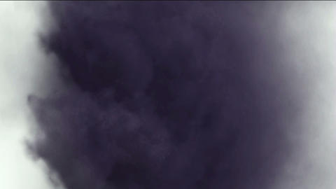 rolling dark clouds & smoke,pollution gas Stock Video Footage