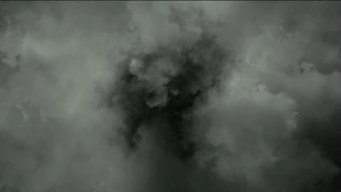 dark clouds & smoke slowly flying,pollution gas Animation