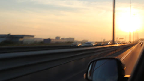 Fast driving on the bypass highway Stock Video Footage
