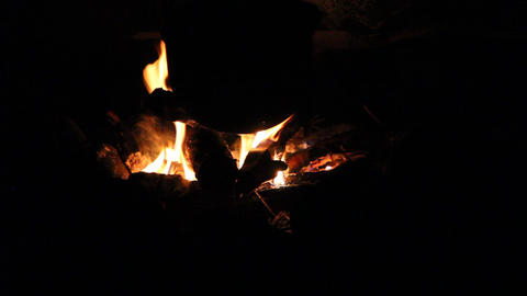 campfire Stock Video Footage