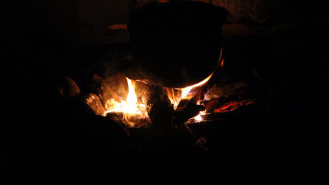Night Bonfire Stock Video Footage