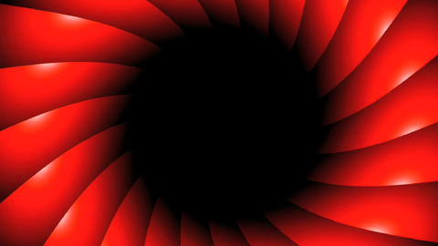red vortex rotate CG動画